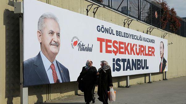 Istanbuler Wahlplakat im April