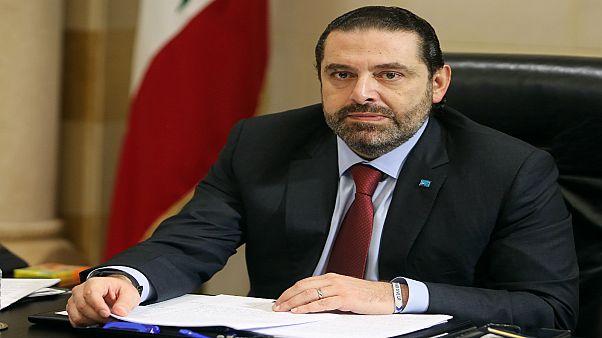 رئيس الوزراء اللبناني سعد الحريري خلال اجتماع في بيروت يوم السادس من فبراير