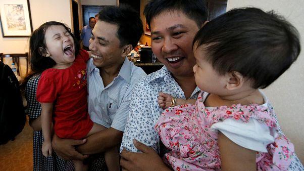 Myanmar yönetimi 6500 kişi için af ilan etti; Reuters'in iki muhabiri serbest bırakıldı