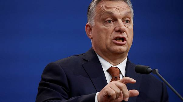 Hungary's Prime Minister Viktor Orban speaks during a joint news conference