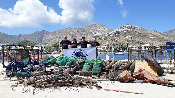 Έβγαλαν 1,5 τόνο σκουπίδια από το βυθό στη Σέριφο (vid)
