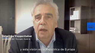 Voggenhuber durante su entrevista con euronews