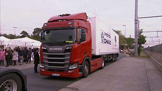 Alemania inaugura su 'autopista eléctrica' para camiones híbridos