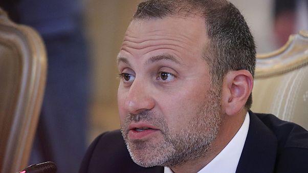 وزير الخارجية اللبناني جبران باسيل خلال اجتماع في موسكو