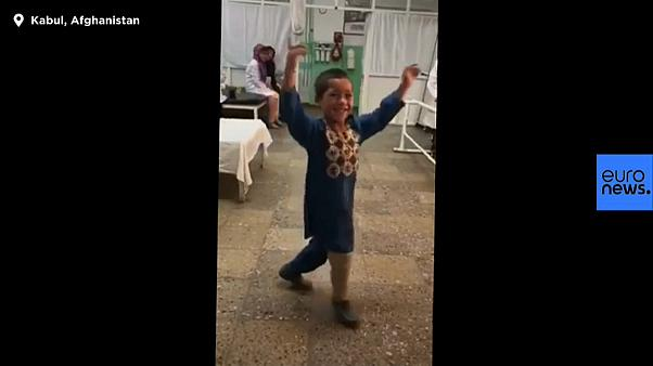 Watch: Video of Afghan boy dancing with new prosthetic leg goes viral