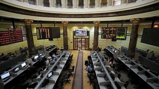 البورصة المصرية في 20 سبتمبر أيلول 2018.