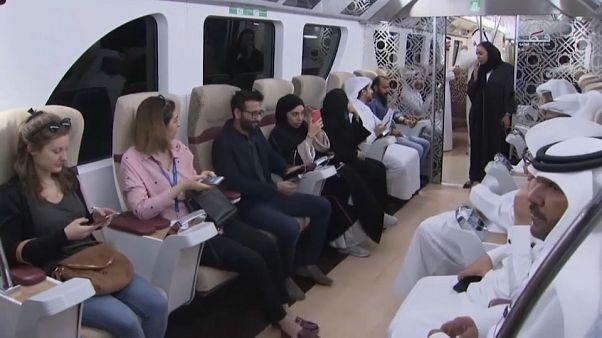 شاهد: افتتاح أول خط مترو في قطر