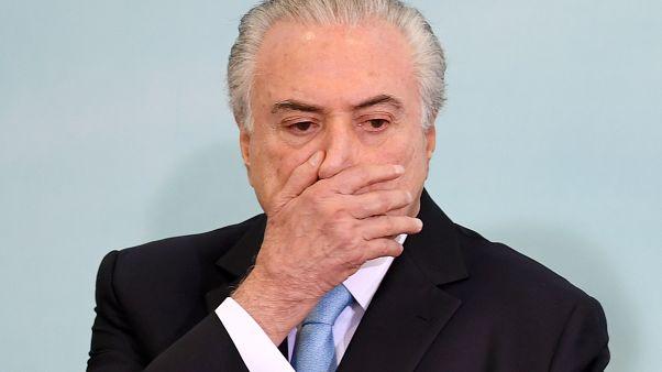 Brezilya: Hakkında tutuklama kararı alınan eski Devlet Başkanı Temer teslim oldu