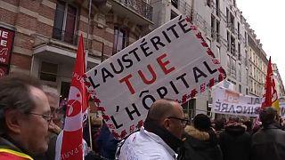 Cortège de la manifestation à Paris en mars 2018