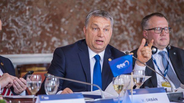 Orbán Viktor magyar miniszterelnök egy EPP-találkozón 2017-ben