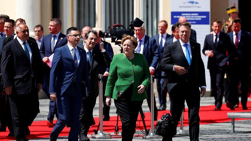 Líderes europeus em Sibiu