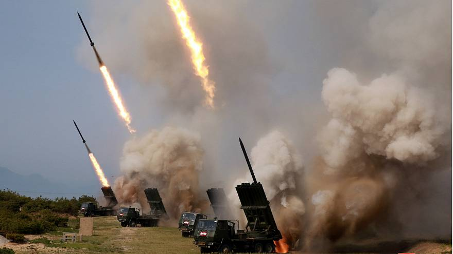 North Korea fires projectiles from area known to be used by military
