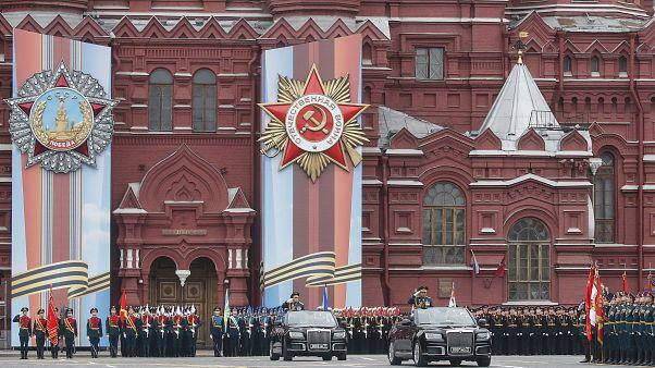 Militärangehörige auf dem Roten Platz