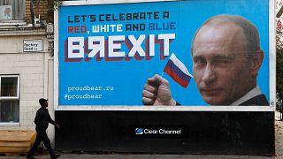 ملصق لبريكست في لندن