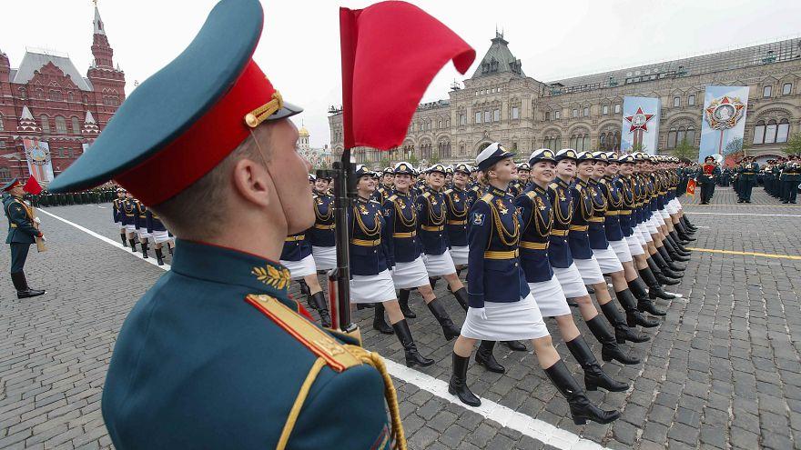 رژه ارتش روسیه در سالگرد پیروزی بر آلمان نازی