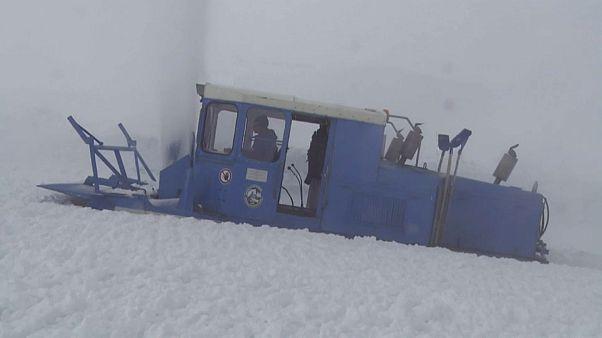 Großglockner Hochalpenstraße: Räumungsteams kämpften gegen neun Meter hohen Schnee