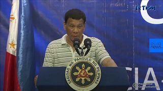 Watch: Cockroach bugs Philippines President Duterte