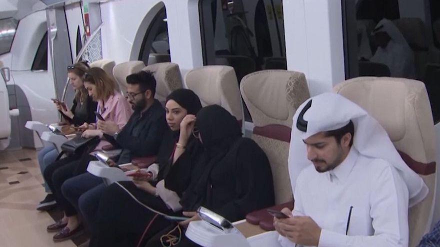 Video | Katar'ın başkenti Doha'da ülkenin ilk metrosu açıldı