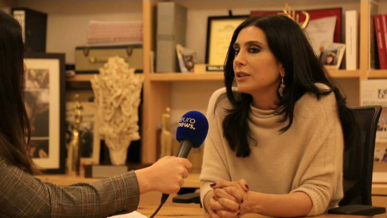 Realizadora libanesa Nadine Labaki em entrevista