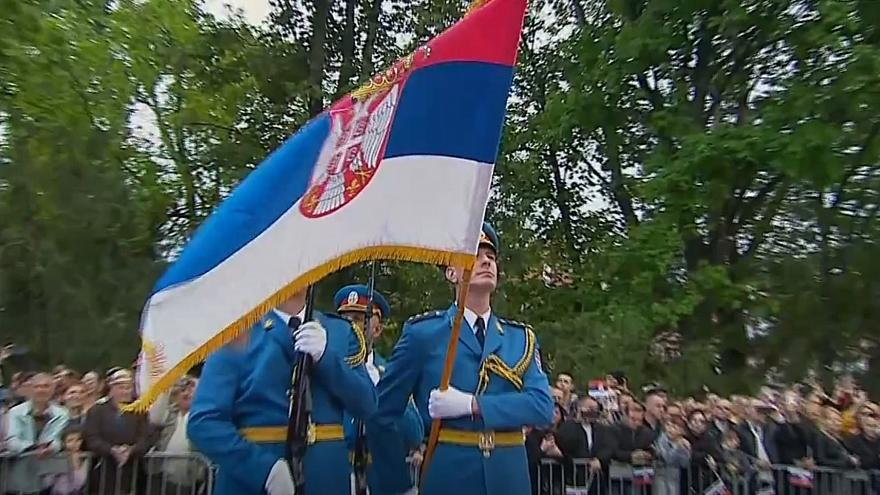 Watch: Serbia holds a military parade as a show of military might in a tense region