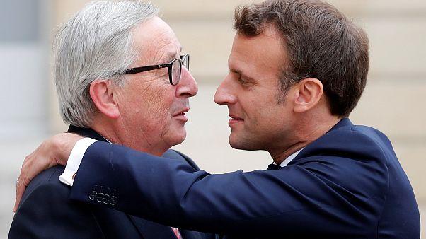 President Emmanuel Macron meets President Jean-Claude Juncker