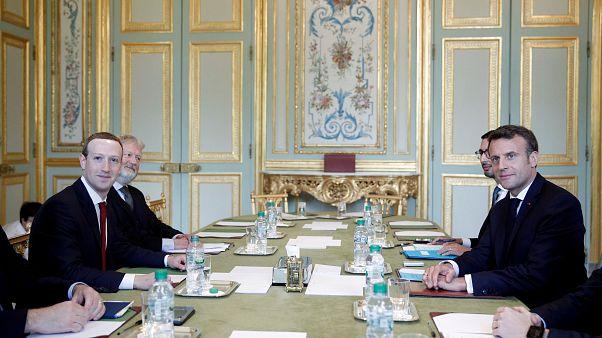 Marc Zuckerberg no Palácio do Eliseu