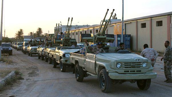 مركبات عسكرية تابعة لقوات الحكومة الليبية المعترف بها دوليا