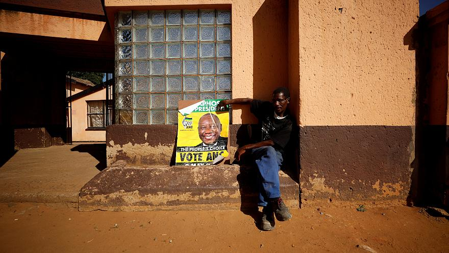 ANC supporter awaits results in Diepkloof township in Johannesburg,