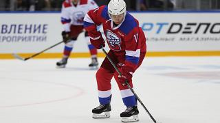 Watch: Putin shows off athletic prowess in ice hockey game