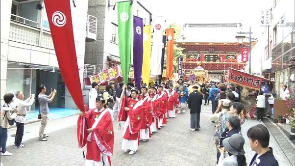 Japanese enjoy Kanda Matsuri festival in Tokyo