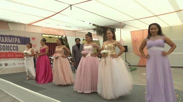 برگزاری یک نمایش مد در زندانی در لیما پایتخت پرو