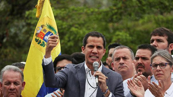 Venezuela's opposition leader Juan Guaidó claims he has the support of the military