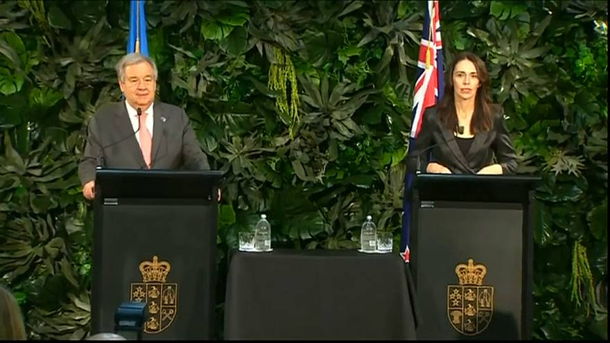 غوتيريش يلتقي رئيسة وزراء نيوزيلندا ويوجه رسالة إلى متضرري مذبحة المسجدين في رمضان