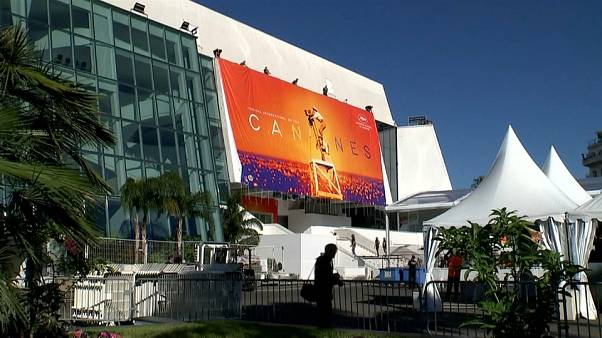 Cannes Film Festival poster unfurled