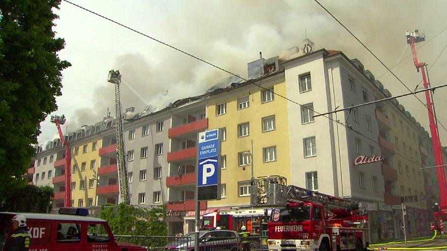 Das brennende Reihenhaus in Wien-Simmering