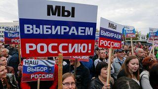 В Донецке прошла акция за присоединение к России