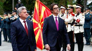 North Macedonia's new president Stevo Pendarovski takes office