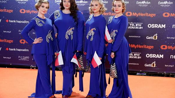 Watch again: Contestants for Eurovision 2019 walk the orange carpet in opening ceremony