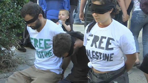 Protesto palestiniano marca arranque da semana da Eurovisão