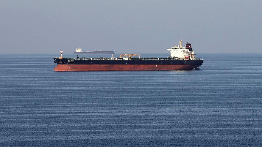 Oil tankers pass through the Strait of Hormuz, December 21, 2018.