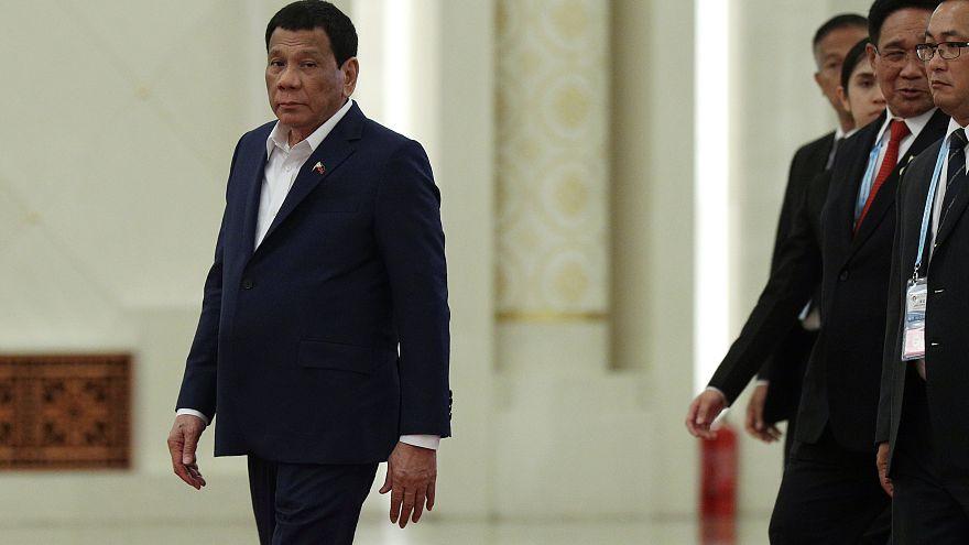 Le président Rodrigo Duterte lors d'un sommet franco-chinois en avril.
