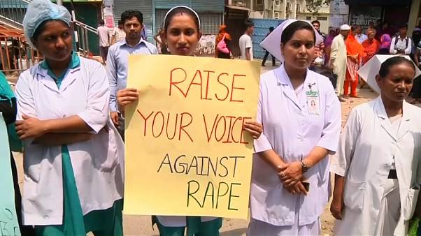 Nurses protest against rape in Bangladesh