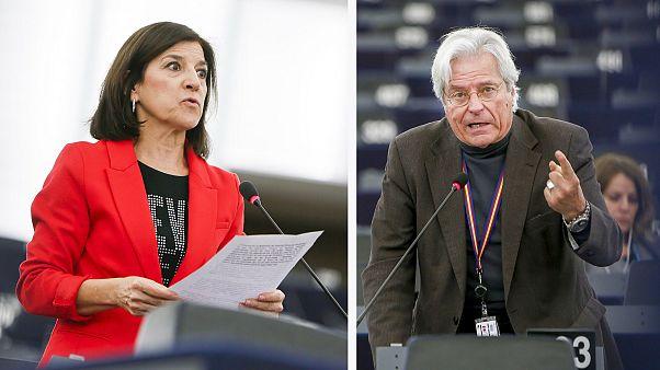 Los eurodiputados Izaskun Bilbao (PNV) y Javier Nart (C's)