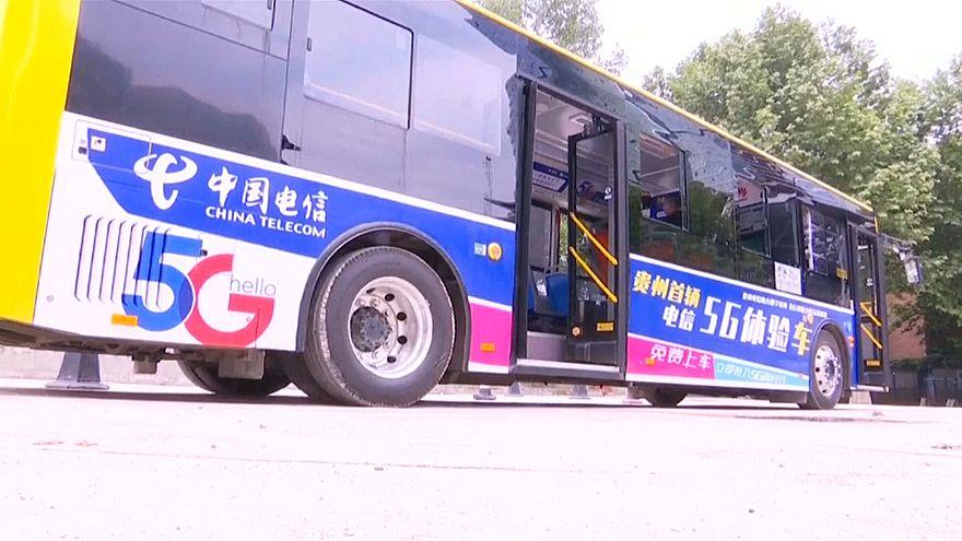شاهد: خدمات عالية التقنية على متن حافلات الـ5g في الصين