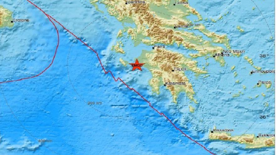Σεισμική δραστηριότητα στην Πελοπόννησο