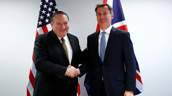 بومبيو ووزير الخارجية البريطاني جيريمي هانت