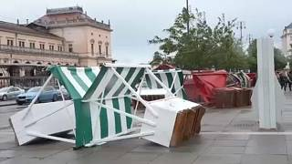 Viharos időjárás Zágrábban és Magyarországon is