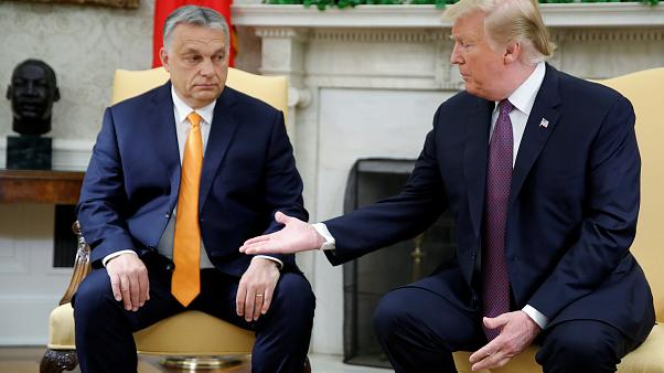 Donald Trump welcomed Hungary's Viktor Orban to the White House on Monday