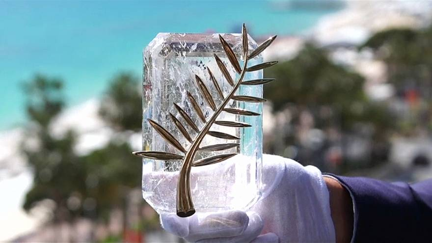 The trophy, made of 24-carat gold, pays tribute to the Cannes coat of arms
