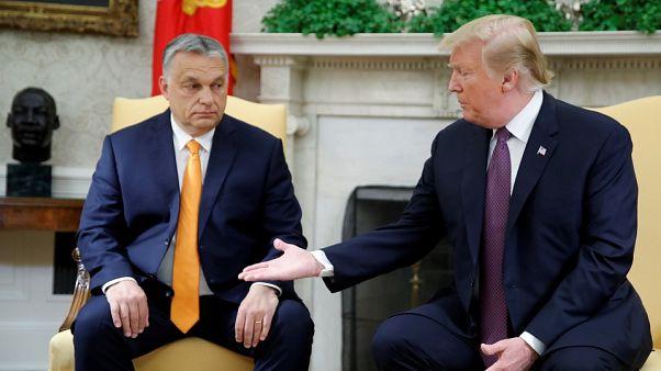 الرئيس الأمريكي يلتقي رئيس وزراء المجر أوربان في البيت الأبيض